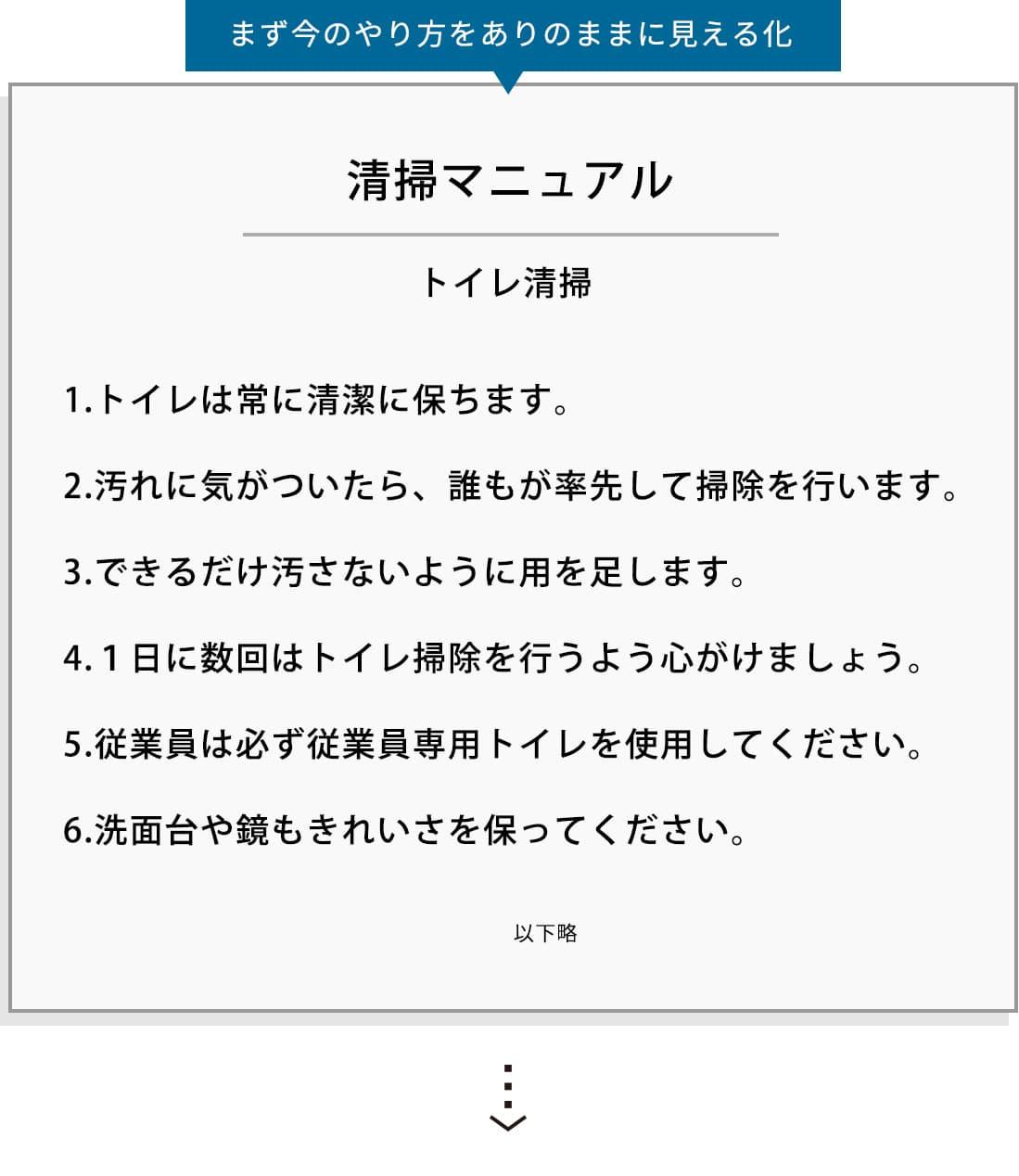元のマニュアル / 清掃マニュアル -トイレ清掃-